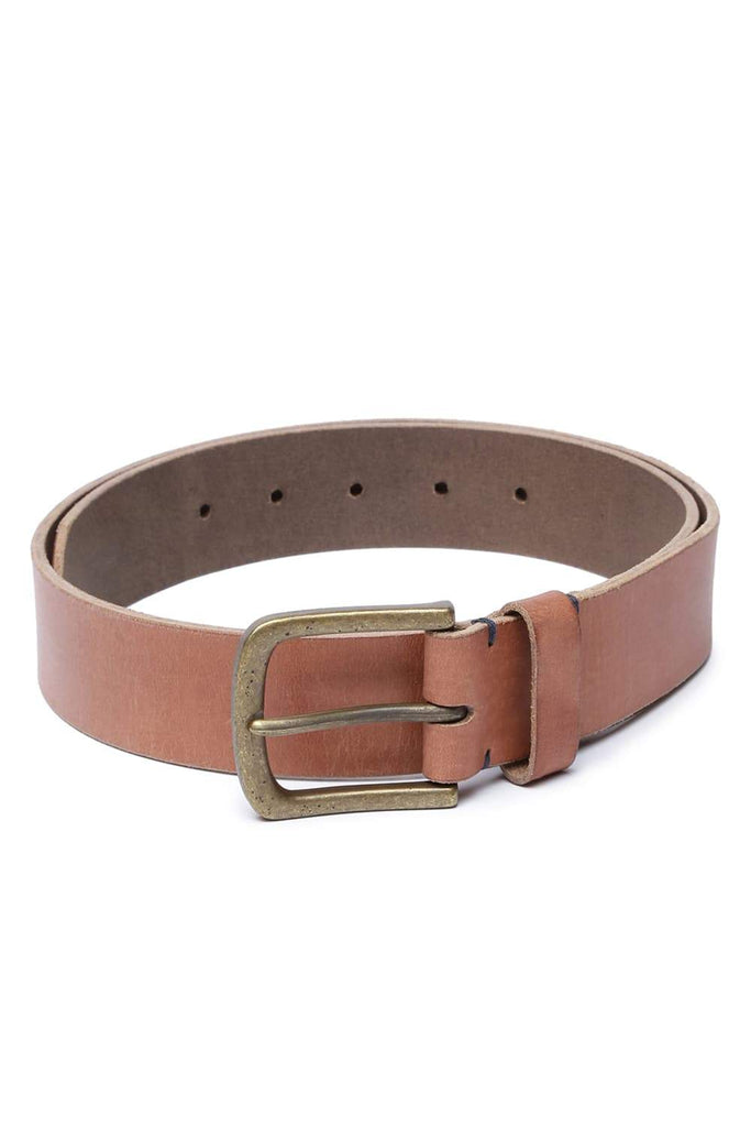 Basics Mans Accessories Burnt Brick Belt Front