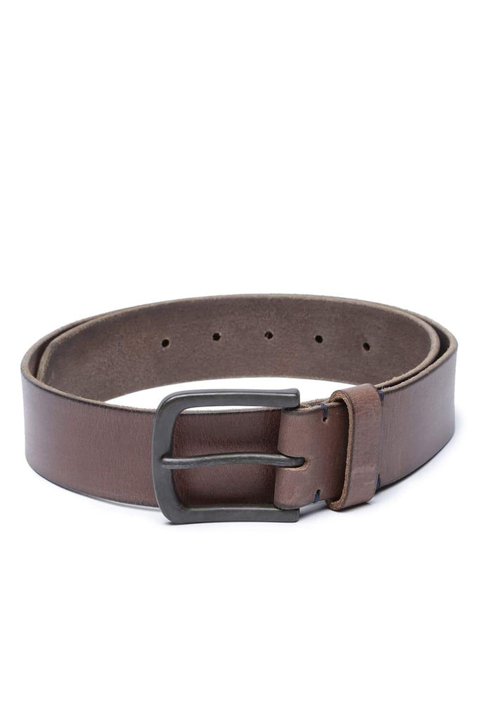 BASICS MANS ACCESSORIES CHESTNUT BROWN BELT-17BBL38228 (4491114381393)