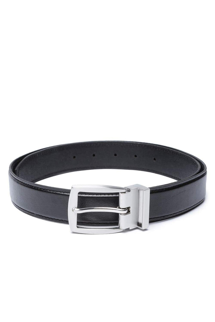 BASICS MANS ACCESSORIES RAVEN BLACK BELT-17BBL38234 (4491114741841)