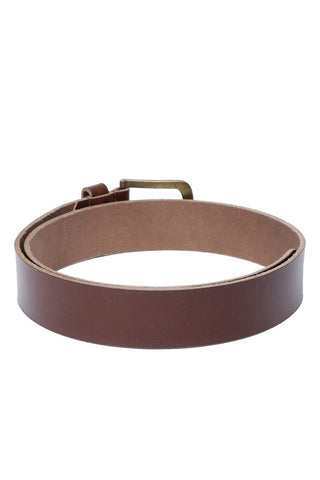 Basics Mans Accessories Rustic Brown Belt Front