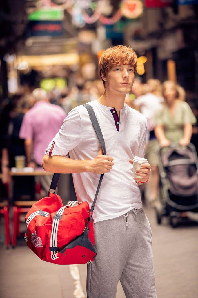 Basics Mens Accessories Chili Pepper Red Duffle Bag Front