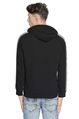 BASICS MUSCLE FIT BLACK BEAUTY RAGLAN HOODED KNIT JACKET-19BJK42685 (4491606622289)
