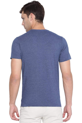 BASICS MUSCLE FIT BLUE DEPTHS CREW NECK T SHIRT-19BTS40927 (4491585192017)