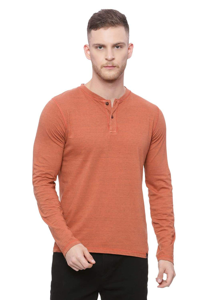 Basics Muscle Fit Chilli Orange T-Shirt Front