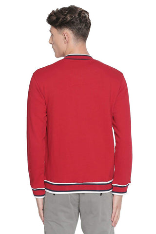 BASICS MUSCLE FIT CHILLI PEPPER HIGH NECK KNIT JACKET-19BJK42696 (4491607244881)