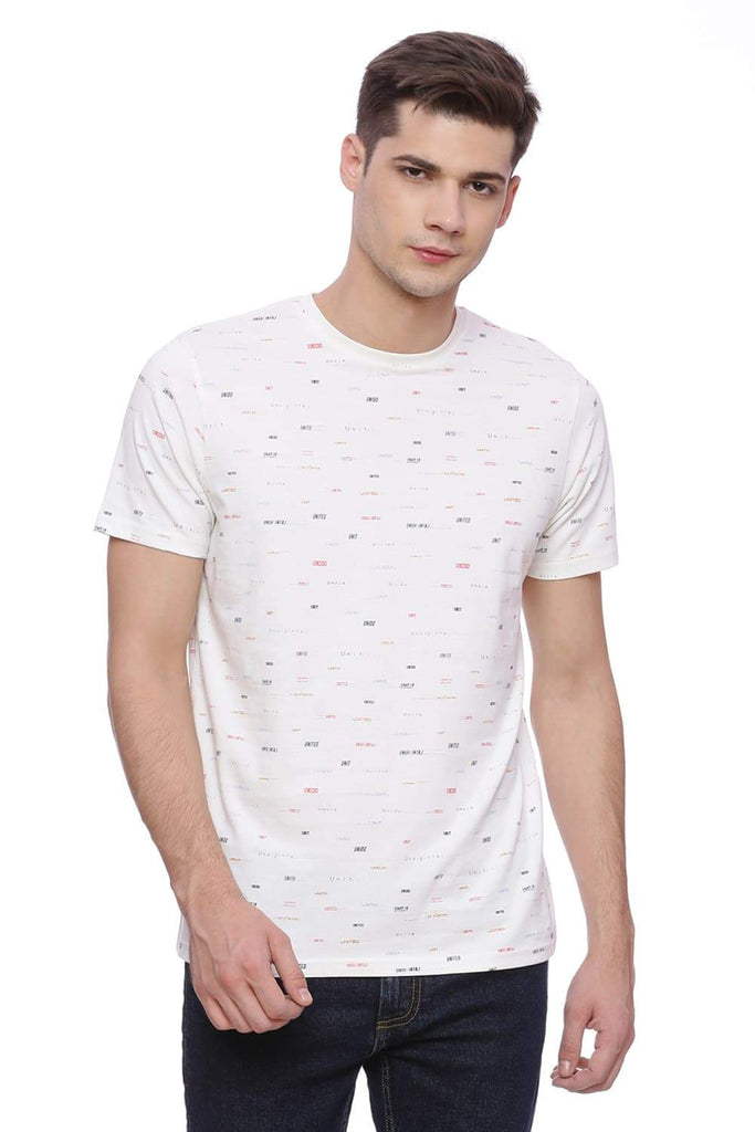 BASICS MUSCLE FIT CLOTTED CREAM CREW NECK T SHIRT-18BTS37996 (4491020795985)
