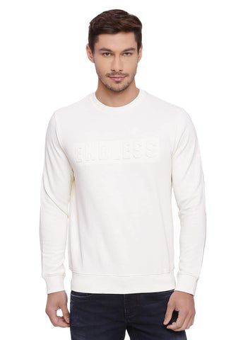 BASICS MUSCLE FIT CLOTTED CREAM PULLOVER SWEATER-18BSW39684 (4491252269137)