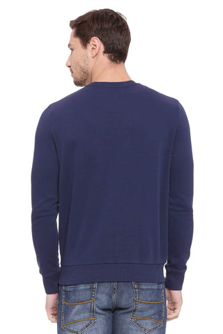 BASICS MUSCLE FIT DRESS BLUE PULLOVER SWEATER-18BSW39689 (4491253612625)