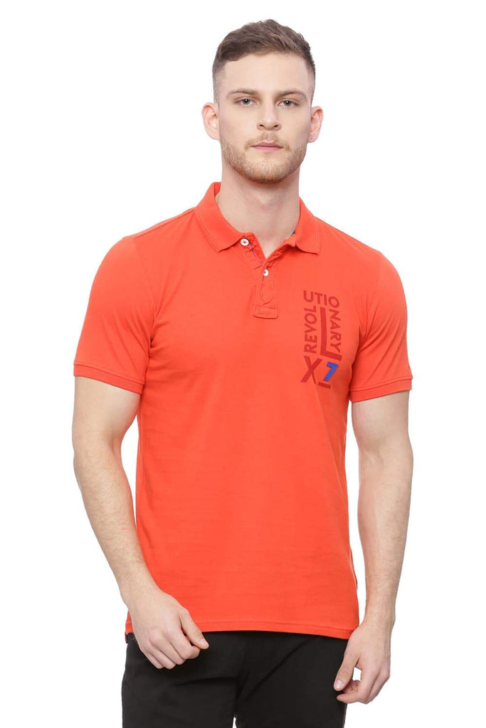 BASICS MUSCLE FIT GRENADINE RED POLO T SHIRT-18BTS37992