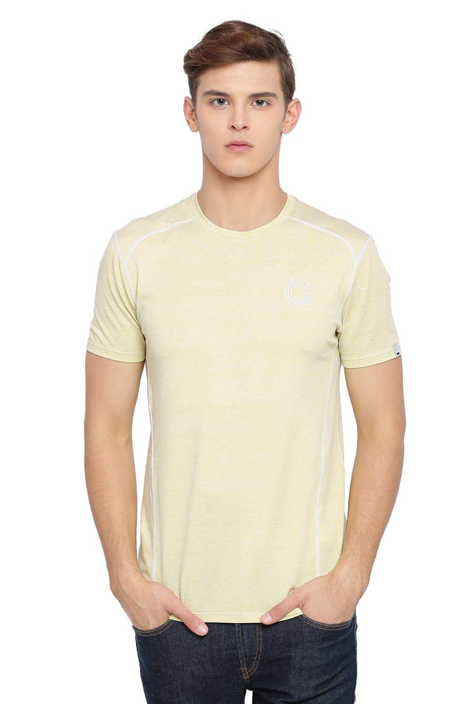 BASICS MUSCLE FIT LIME BEAN CREW NECK T SHIRT-18BTS39574