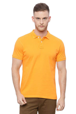 BASICS MUSCLE FIT MANDARIN ORANGE POLO T SHIRT-18BTS41520 (4491506712657)