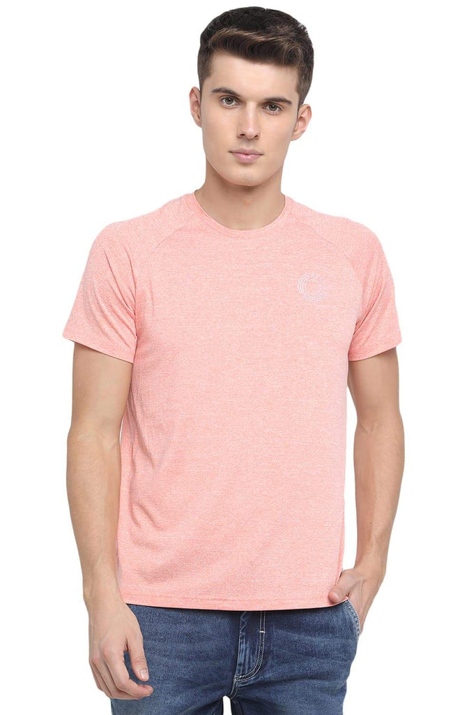 BASICS MUSCLE FIT PEACH PAMPER CREW NECK T SHIRT-18BTS39578 (4491557109841)