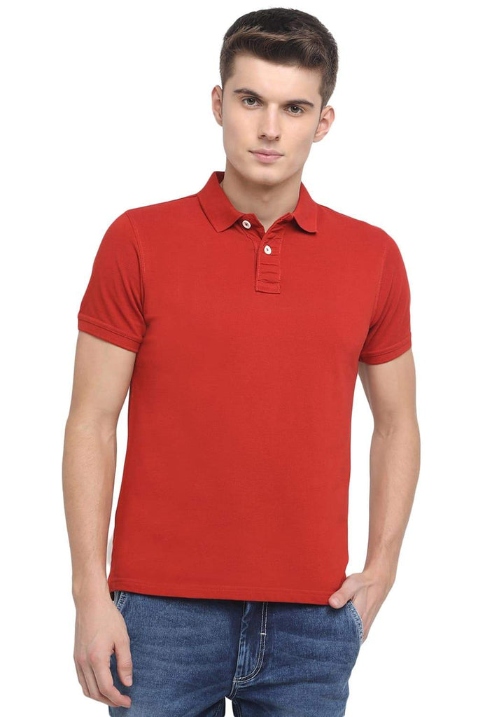BASICS MUSCLE FIT PICANTE POLO T.SHIRT-18BTS41527 (4491516739665)