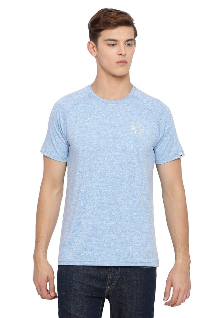 BASICS MUSCLE FIT PLACID BLUE CREW NECK T SHIRT-18BTS39579 (4491547967569)