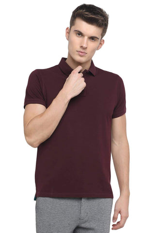 BASICS MUSCLE FIT PORT ROYALE WINE POLO T.SHIRT-18BTS41528 (4491518771281)
