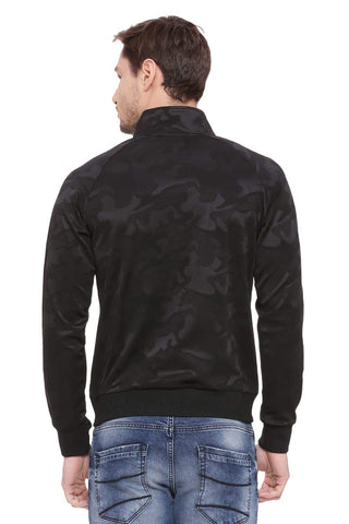 BASICS MUSCLE FIT RAVEN HIGH NECK KNIT JACKET-18BJK39599 (4491530698833)