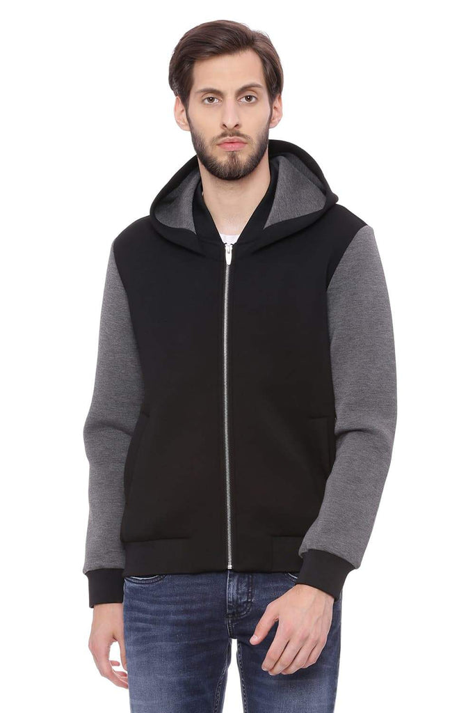 BASICS MUSCLE FIT RAVEN HOODED KNIT JACKET-18BJK39604 (4491532140625)