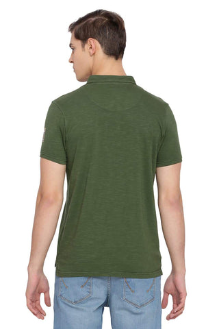 BASICS MUSCLE FIT RIFLE GREEN POLO T SHIRT-18BTS39472 - BasicsLife