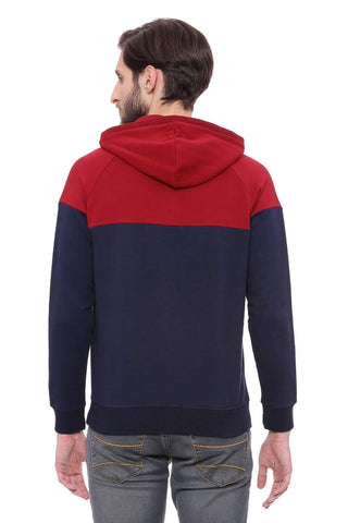 BASICS MUSCLE FIT RIO RED RAGLAN PULLOVER KNIT JACKET-18BJK39699 (4491492458577)