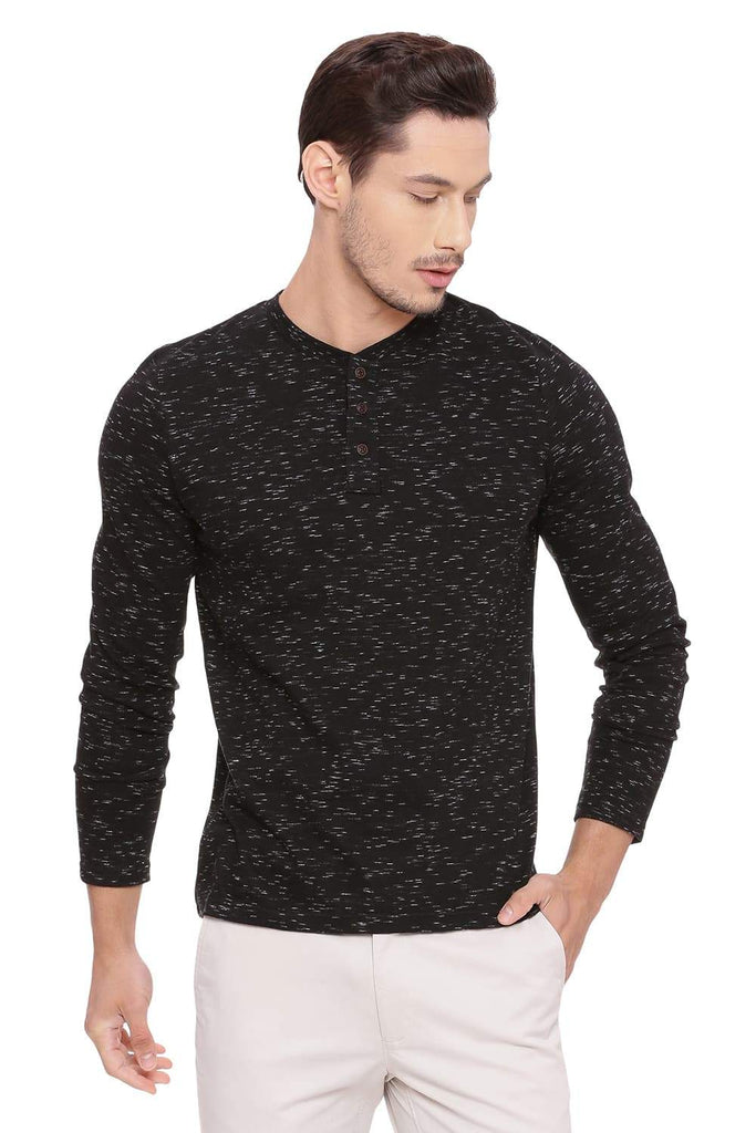BASICS MUSCLE FIT STARRY NIGHT HENLEY T SHIRT-18BTS39495 - BasicsLife