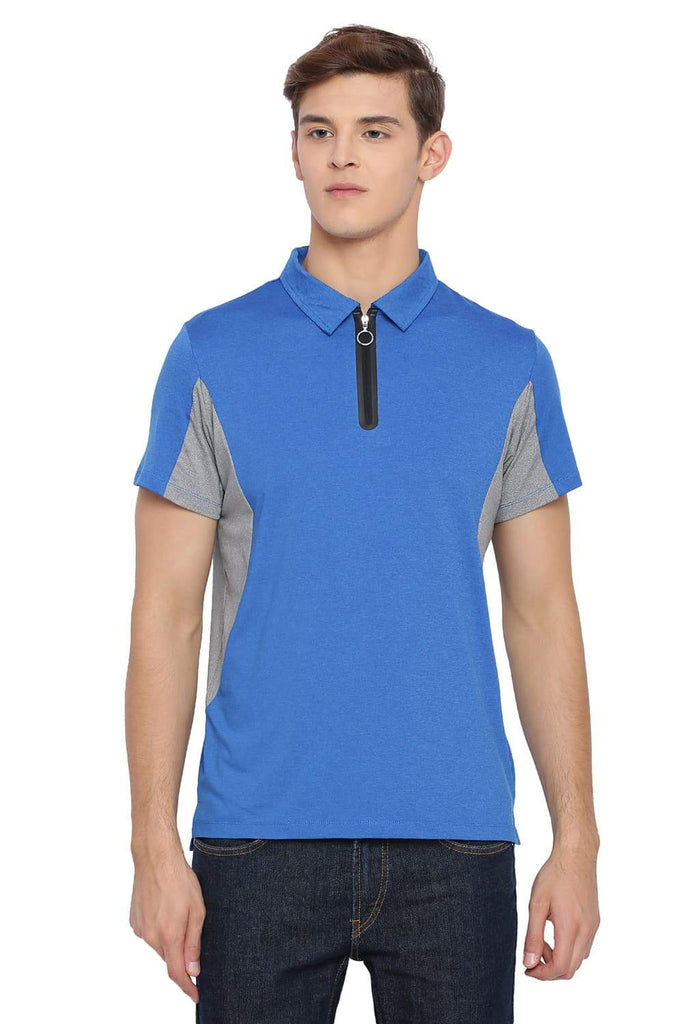 BASICS MUSCLE FIT STRONG BLUE POLO T SHIRT-18BTS39523 (4491546951761)