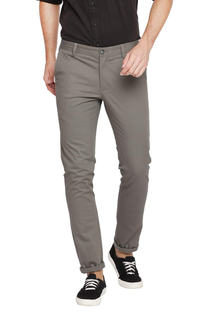 BASICS SKINNY FIT DEEP LICHEN STRETCH TROUSER-18BTR39899 (4491551473745)