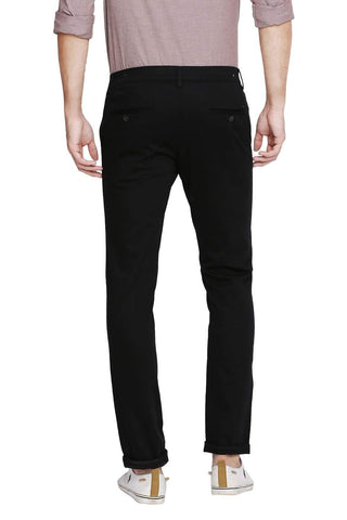 Basics Skinny Fit Pirate Black Stretch Trouser Front