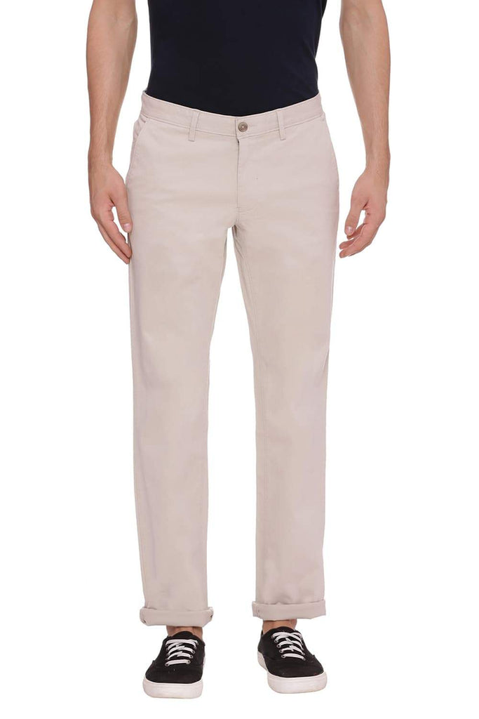 BASICS SKINNY FIT PUMICE STONE BEIGE STRETCH TROUSER-18BTR38428