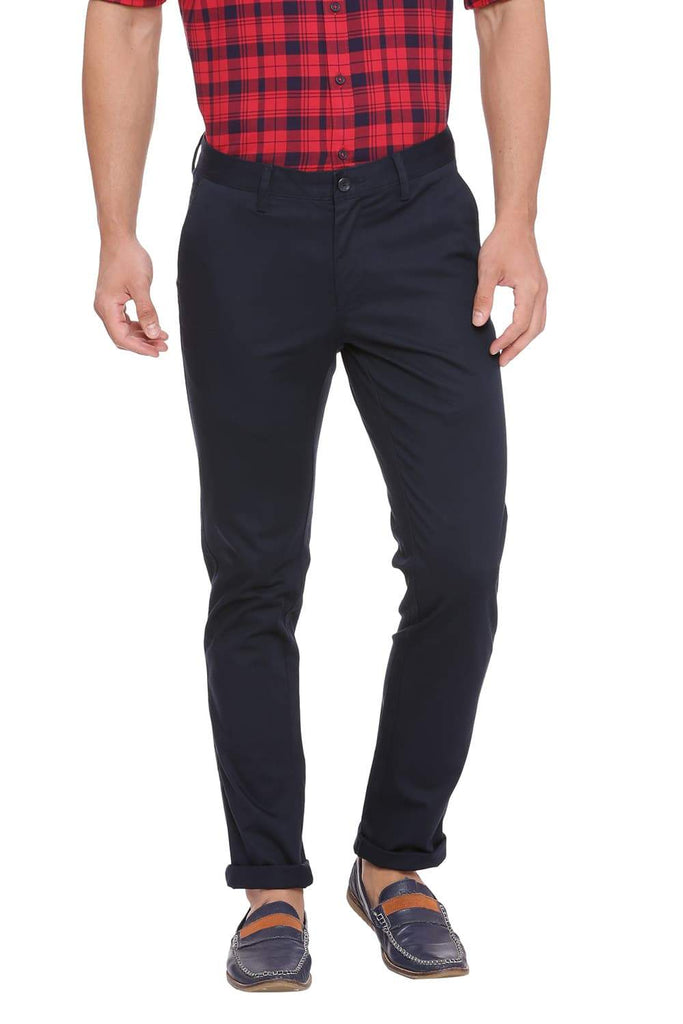 BASICS SKINNY FIT TOTAL ECLIPSE NAVY STRETCH TROUSER-18BTR39894 (4491551080529)