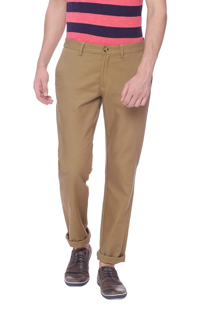 Basics Slim Fit Antique Bronze Khaki Trouser Front