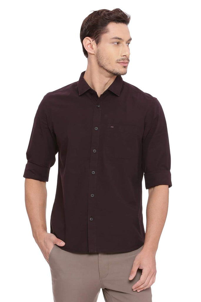 BASICS SLIM FIT BITTER CHOCOLATE FILA FIL SHIRT-18BSH38849 - BasicsLife