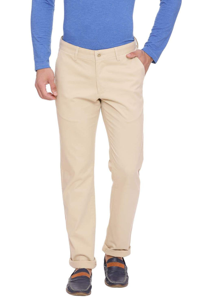 BASICS SLIM FIT CLOUD CREAM STRETCH TROUSER-18BTR38988 (4491295948881)
