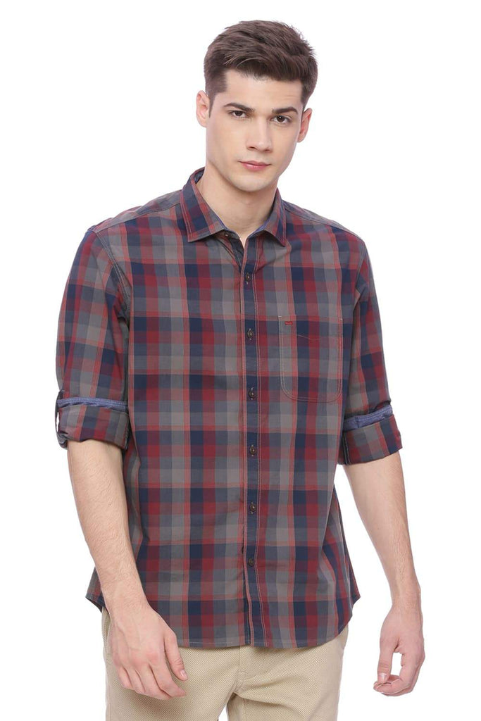 BASICS SLIM FIT FORMULA ONE CHECKS SHIRT-18BSH37574