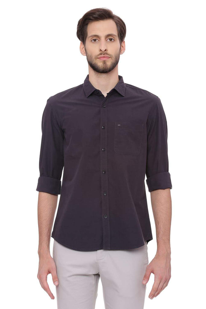 BASICS SLIM FIT JET BLACK FILA FIL SHIRT-18BSH38847 (4491429019729)