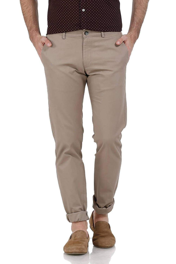 BASICS SLIM FIT LIGHT GREY DOBBY WEAVE RIBBED TROUSERS-17BCTR38199