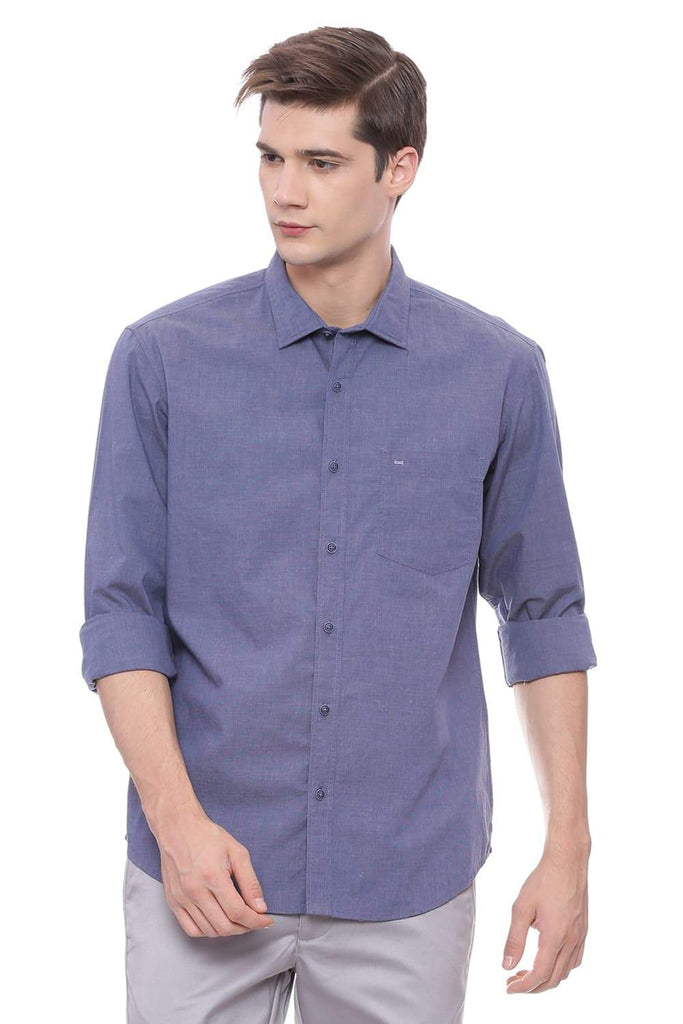 BASICS SLIM FIT MARLIN NAVY FILA FIL SHIRT-18BSH37392 (4491118772305)