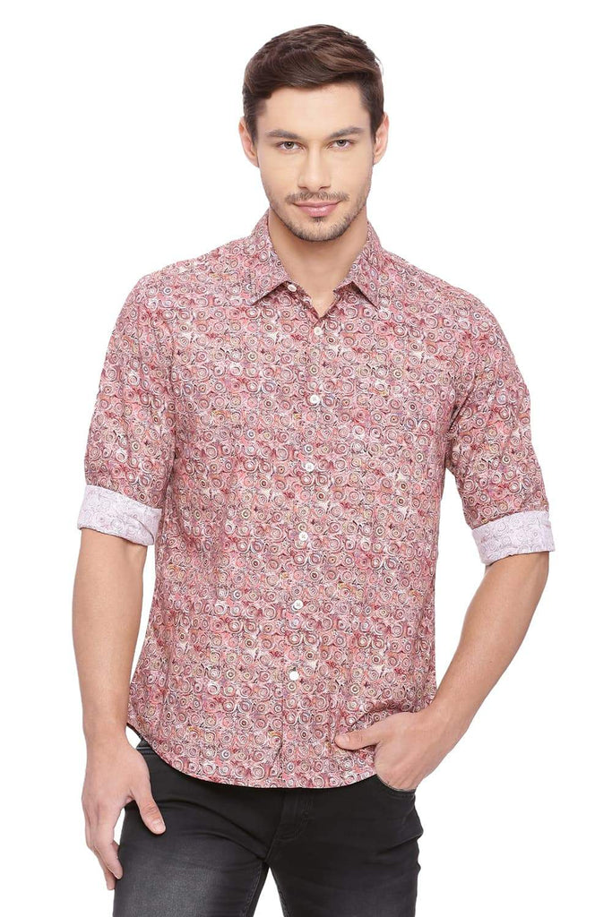 Basics Slim Fit Picante Red Shirt Front