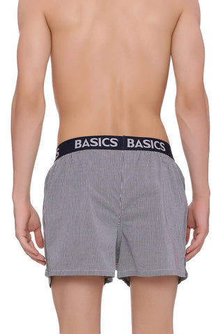 BASICS SLIM FIT PIRATE BLACK CHECKS BOXER SHORTS-18BBX38555 (4491118575697)