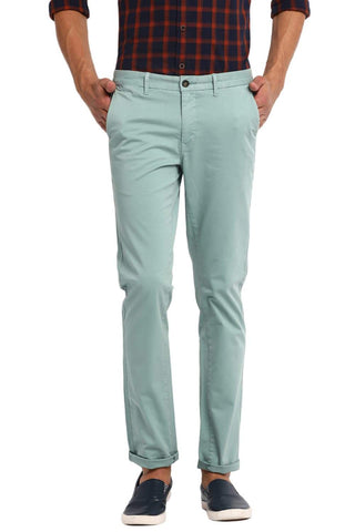 BASICS TAPERED FIT AGATE GREEN STRETCH TROUSER-19BTR40656 (4491559960657)