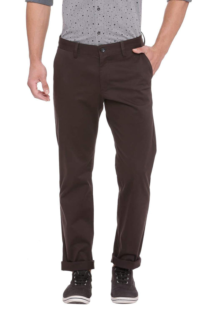 BASICS TAPERED FIT BELUGA GREY STRETCH TROUSER-18BTR39952 (4491552194641)