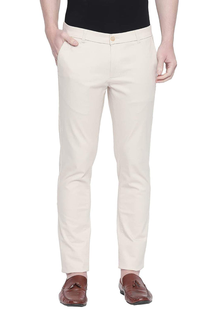 BASICS TAPERED FIT BIRCH STRETCH TROUSER-20BTR43280 (4491872370769)