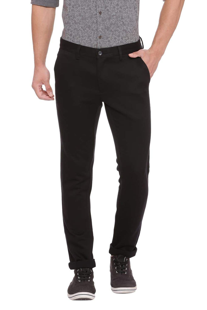 BASICS TAPERED FIT BLUE SAPHIRE STRETCH TROUSER-18BTR39041 (4491316691025)