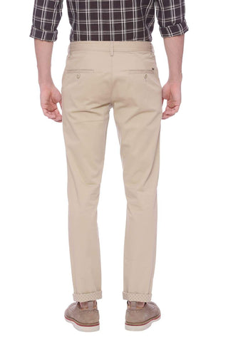 Basics Tapered Fit Candied Ginger Khaki Trouser Front