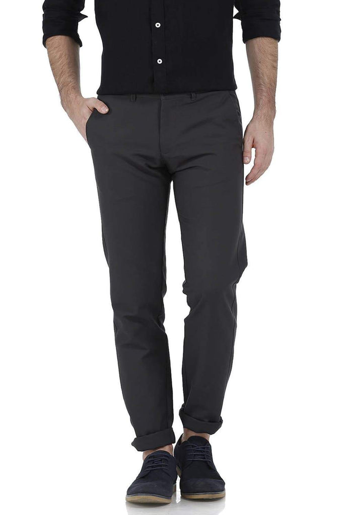BASICS TAPERED FIT CASTLE ROCK COTTON TROUSER-17BCTR38206