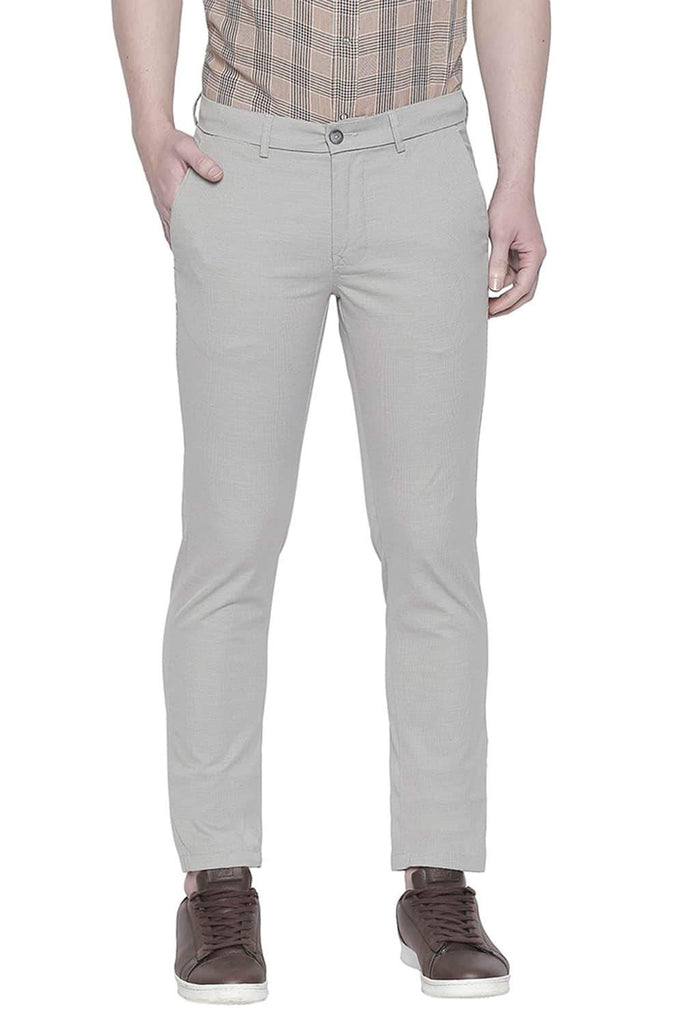 BASICS TAPERED FIT CHATEAU GREY STRETCH TROUSER-20BTR43345 - BasicsLife