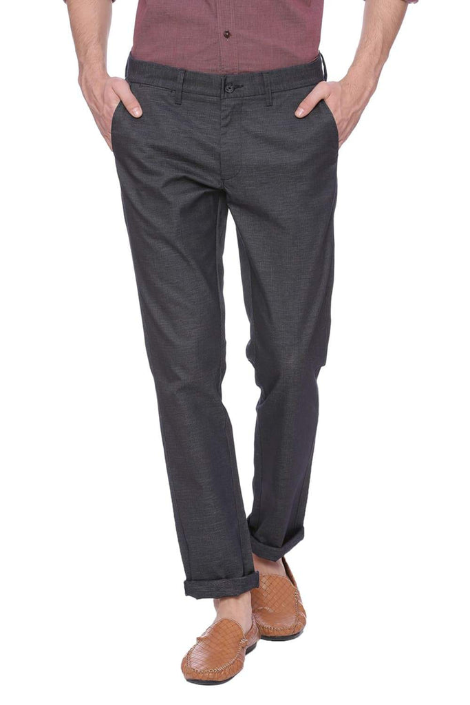 Basics Tapered Fit Dark Saphire Navy Trouser Front