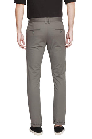 Basics Tapered Fit Deep Lichen Stretch Trouser Front