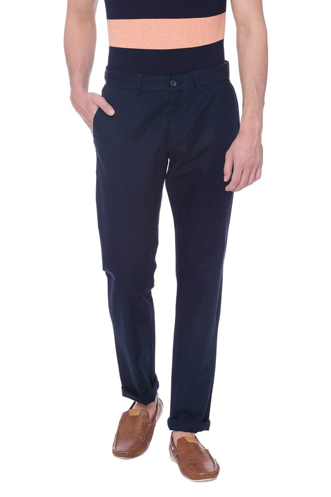 BASICS TAPERED FIT DRESS BLUES NAVY TROUSER-18BTR38250 (4491082235985)
