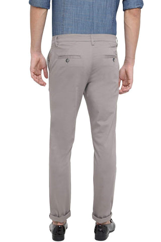 Basics Tapered Fit Elephant Skin Stretch Trouser Front