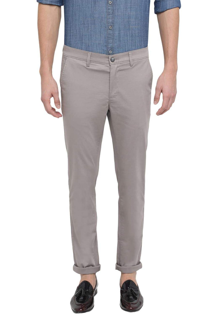 BASICS TAPERED FIT ELEPHANT SKIN STRETCH TROUSER-18BTR39103